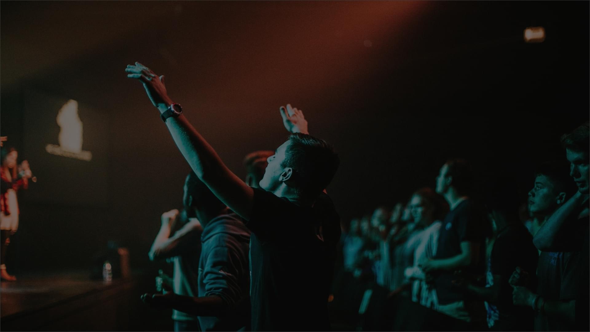 man worshipping